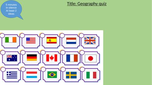 End of term Geography quiz - KS3, KS4, KS5