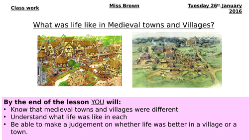 Medieval towns and villages