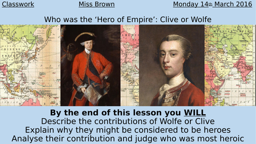 James Wolfe and Robert Clive