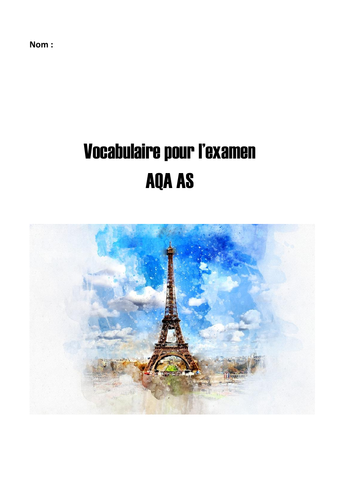 French AQA AS Vocabulary Book