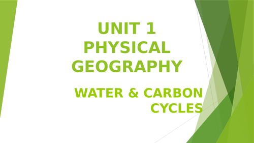 Water & Carbon Cycles A Level Geography