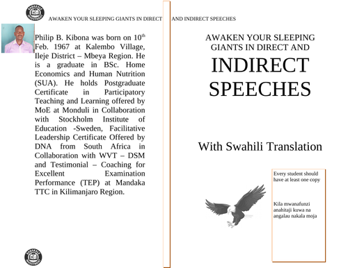 AWAKEN YOUR SLEEPING GIANTS IN DIRECT AND INDIRECT SPEECHES - WITH SWAHILI TRANSLATION