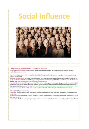 Social Influence - AQA Psychology A-level