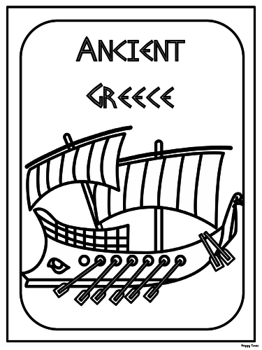 Free Ancient Greece Colouring Pages By Hoppytimes Teaching