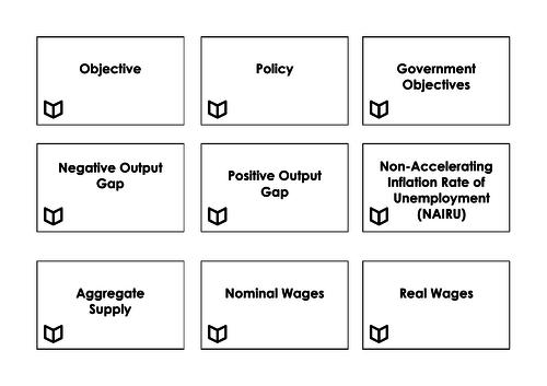 A Level Economics I Macroeconomics Key Words
