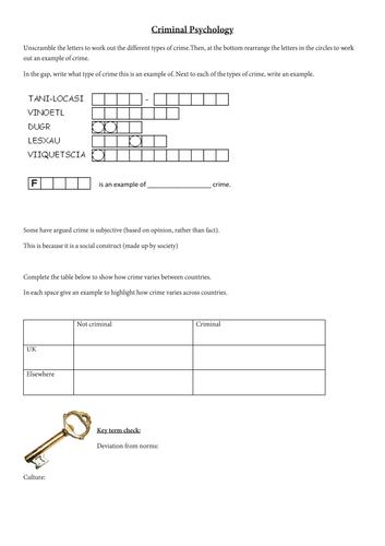 OCR Psychology 9-1 GCSE Revision Activity Booklet