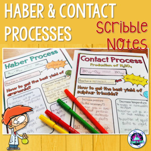 Haber & Contact Processes Scribble (Doodle) Notes