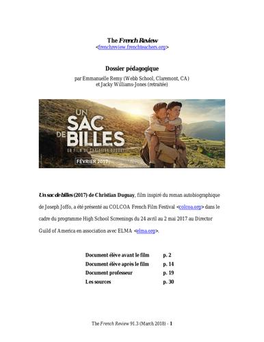 STUDY BOOKLET UN SAC DE BILLES