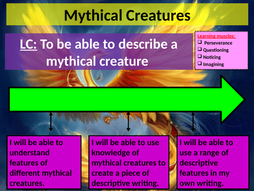 Mythical Creatures Creative Writing Week-long Lesson
