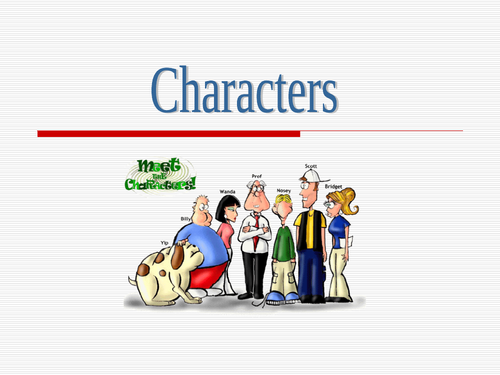 Prose Study - Character Types