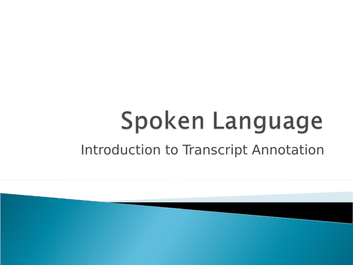 Spoken Language - Theory of Accommodation
