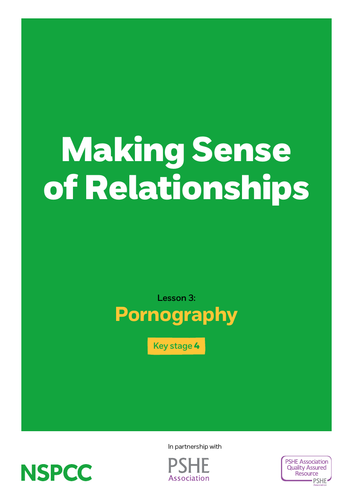 Key stage 4: Lesson plan 3 - Pornography