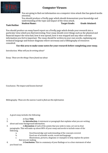 computer science y extended essay research activity by  computer science y extended essay research activity by paperairplane   teaching resources  tes
