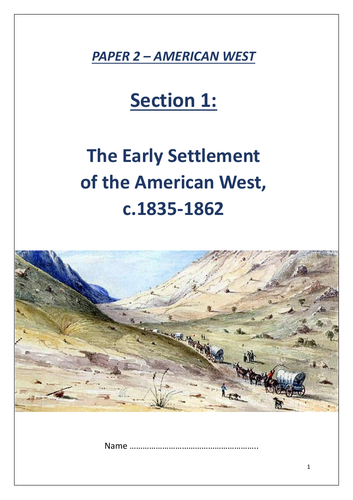 Edexcel GCSE 9-1 History: American West revision workbook - lower ability
