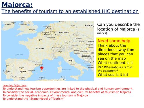 KS3 - tourism unit - L4 tourism in majorca - fully resourced