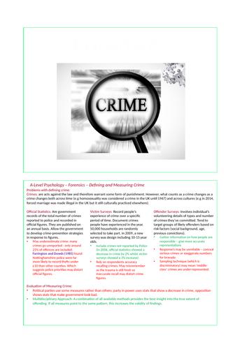 Forensics - AQA Psychology