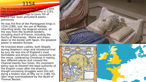 Basic powerpoint on the reign of Henry 2nd