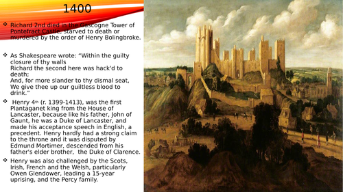 Basic powerpoint on the reign of Henry 4th.