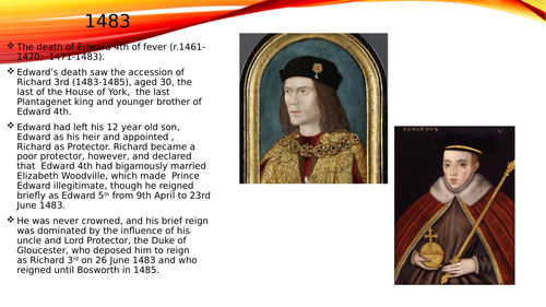 Basic powerpoint on Richard 3rd
