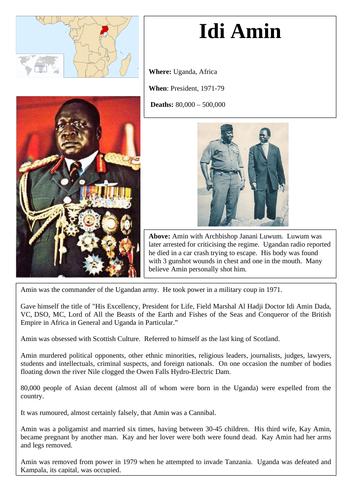 20th Century Dictators - KS3 research lesson