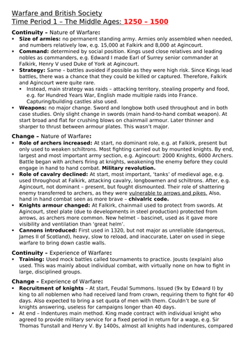Edexcel GCSE (9-1) History: Warfare and British Society - 1250-present day
