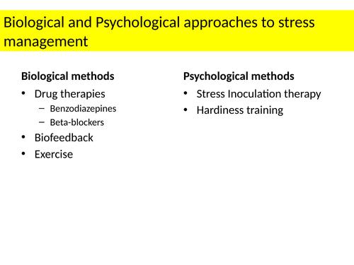 Stress A Level Psychology