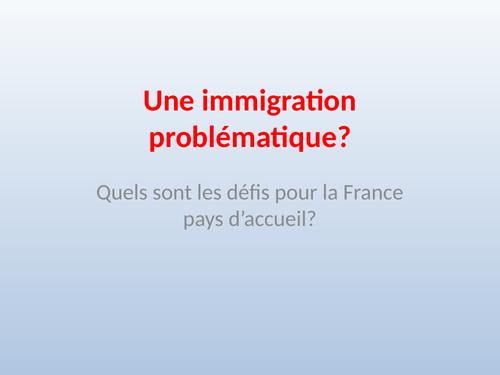 PPT Une immigration problematique