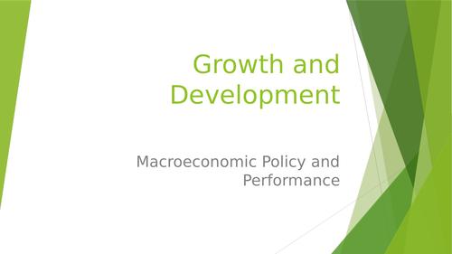 Growth and Development Economics