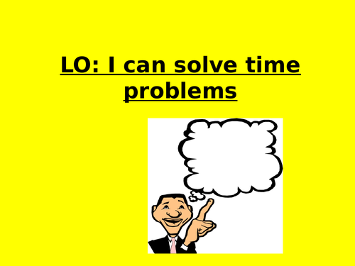 Time problems year 3/4