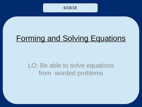 Forming & Solving Equations KS3