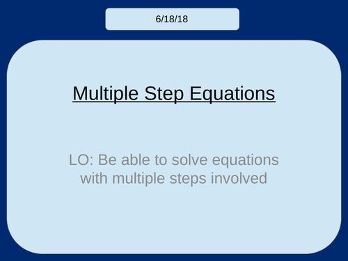 Solving Multiple (3-Step) Equations KS3