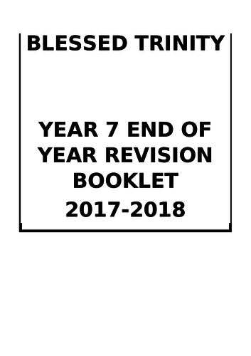 Year 7 Revision Booklet