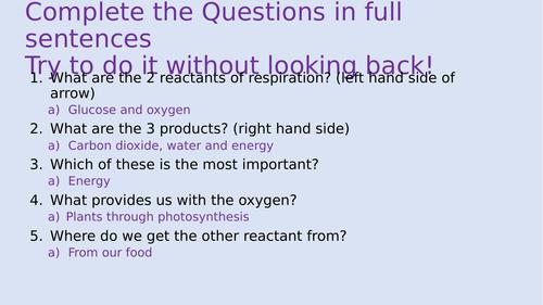 AQA Trilogy Anaerobic respiration