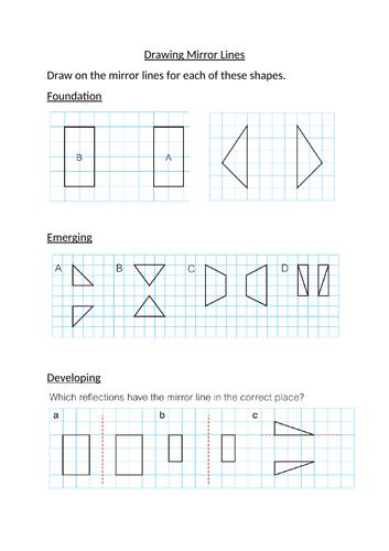 Drawing Lines of Reflection KS2/KS3