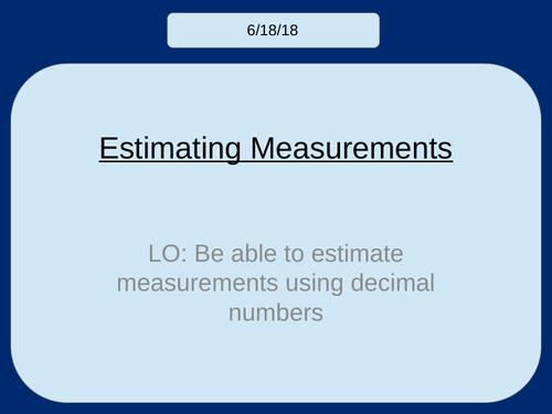 Estimating Measurements (KS3)