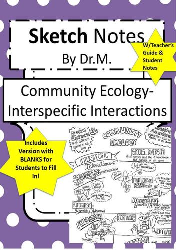 EcologySpecies Interactions Sketch Notes