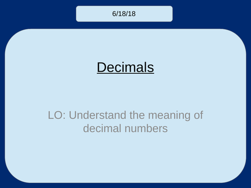 Introduction to Decimals (KS2/KS3)