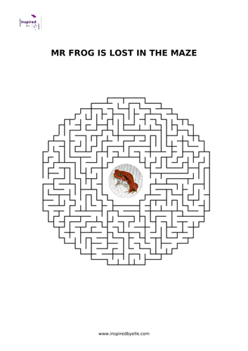 Maze Puzzle - Mr Frog is lost in the maze