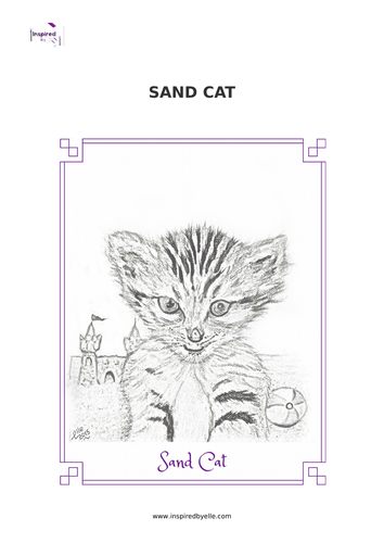 Sand Cat - Colouring Sheet