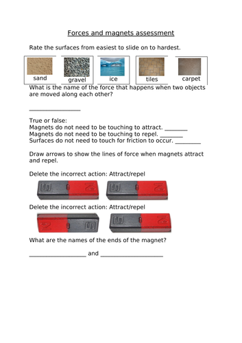 Forces and magnets assessment