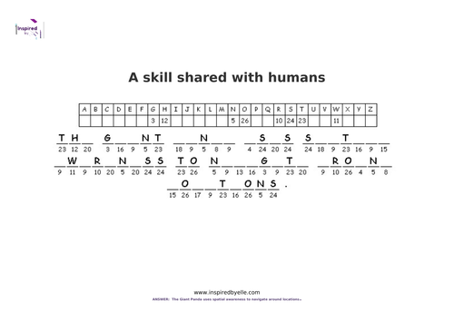 A Skill Shared with Humans - Cryptogram