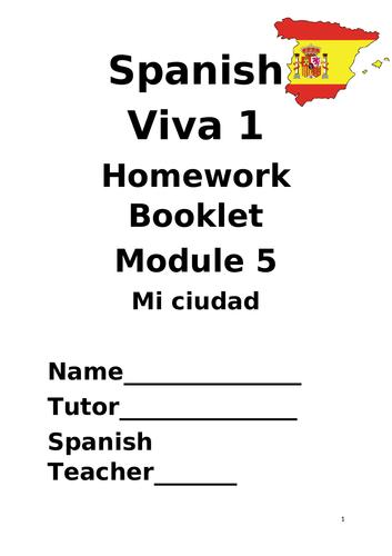 Y7 Mi ciudad (Revision booklet)