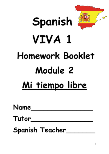 Y7 Mi tiempo libre (Revision booklet)