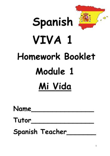 Y7 Mi vida (Revision booklet)