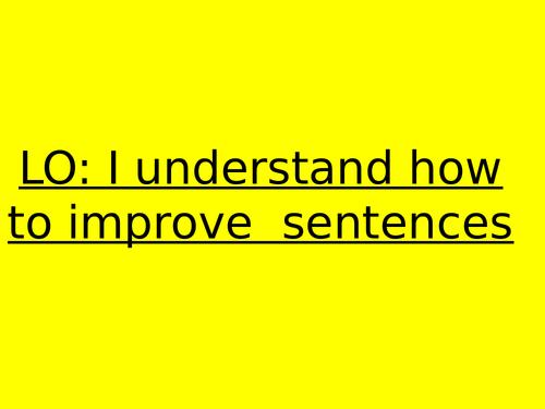 Year 4 - sentence improving