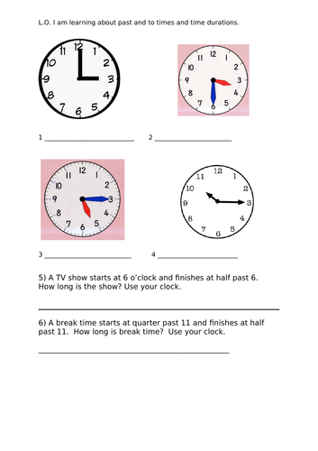 White Rose Maths Hub Time Year 2 Summer