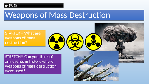 Islam and Weapons of Mass Destruction