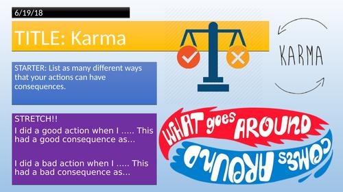 Buddhism and Karma