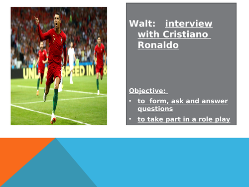 Interview with Cristiano Ronaldo for French TV