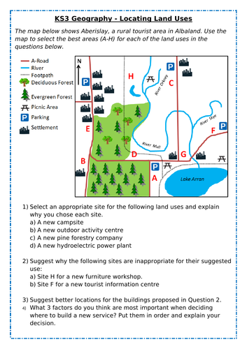 KS3 Geography - Locating Land Uses